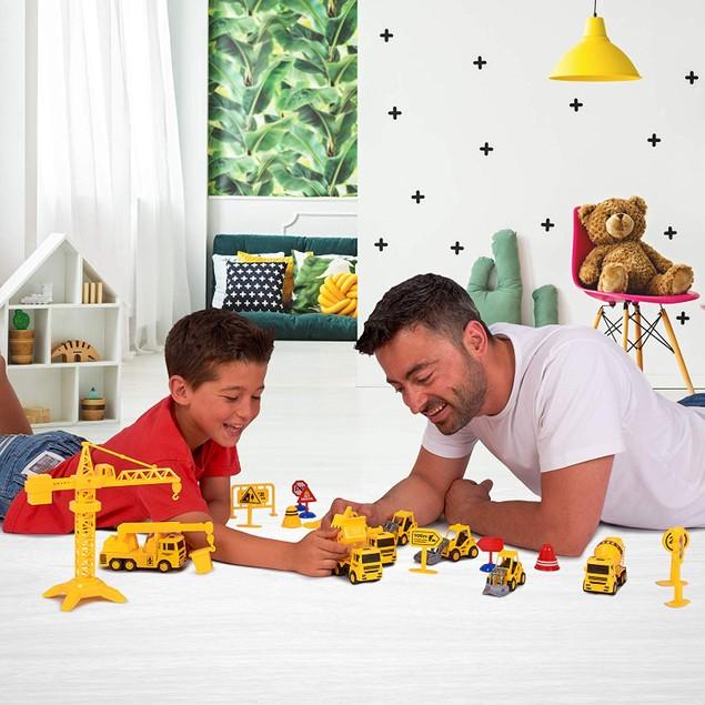22-Piece Construction Trucks Toy Set for Kids