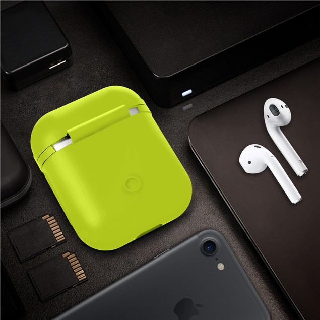Waloo Silicon Water-Resistant Shockproof Case for Apple Airpods