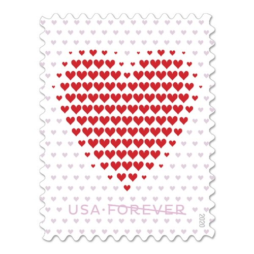 Made of Hearts Sheet of 20 Forever First Class Postage Stamps