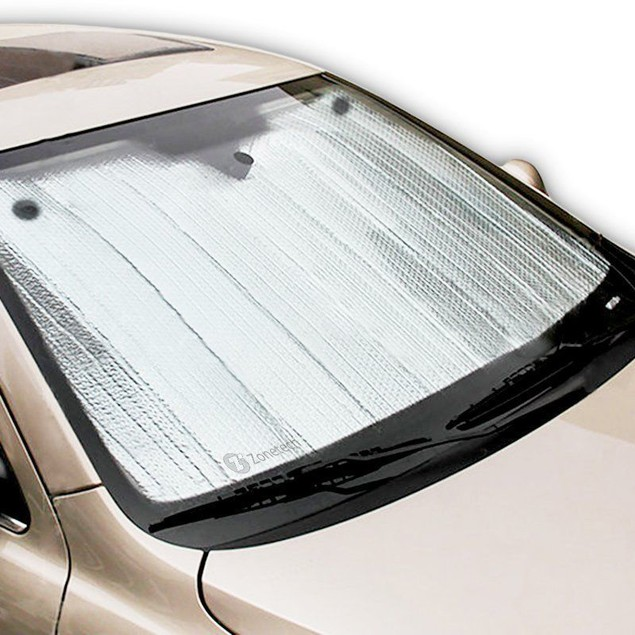 "Zone Tech 28x54"" Car Windshield Sun Shade Aluminum Reflective Silver"
