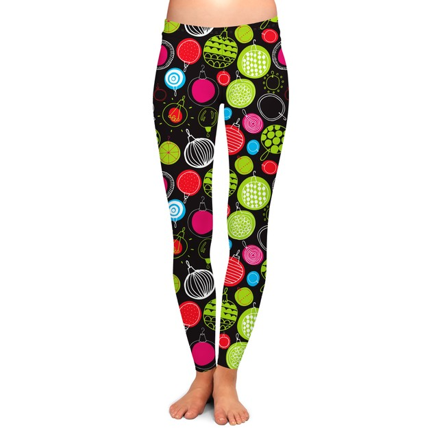 4-Pack Women's Holiday-Themed Printed Leggings