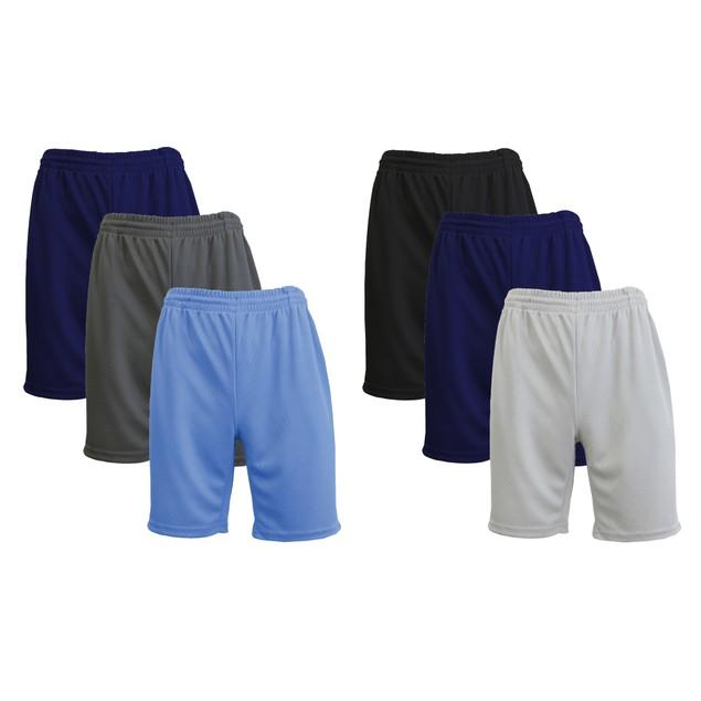 6-Pack Men's Moisture-Wicking Active Mesh Shorts