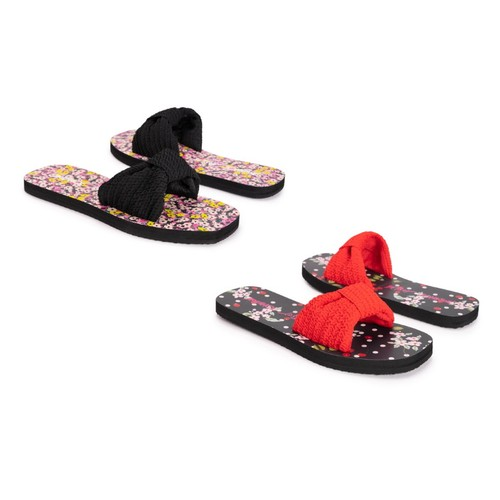 Betsey Johnson Women's Knot Slide Sandals