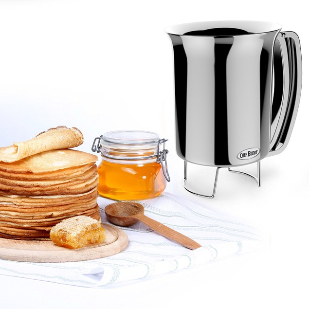 Pancake Batter Dispenser- Gourmet Stainless-Steel Pourer by Chef Buddy