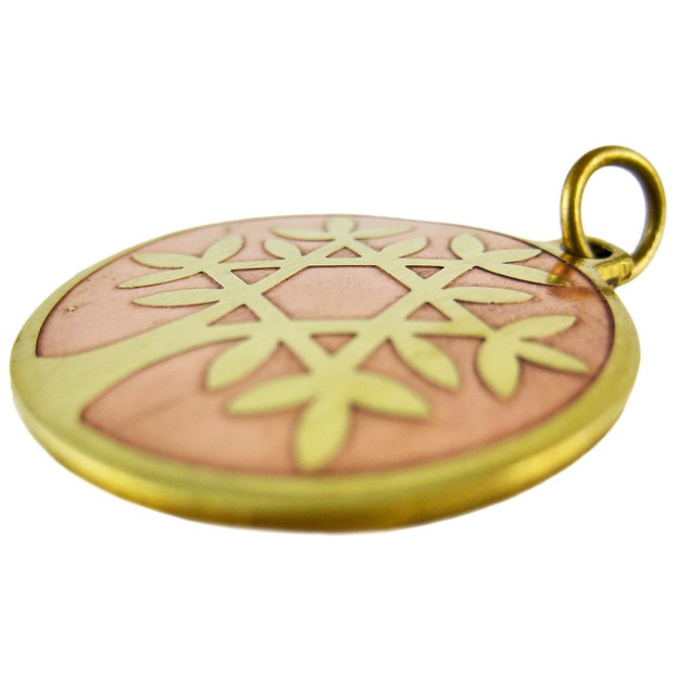 Brass Star Charm Tree Of Life Talisman Pendant Individual Pendants