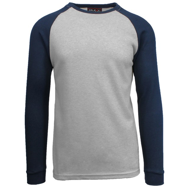 Galaxy by Harvic Men's Thermal Raglan Long Sleeve T-Shirts