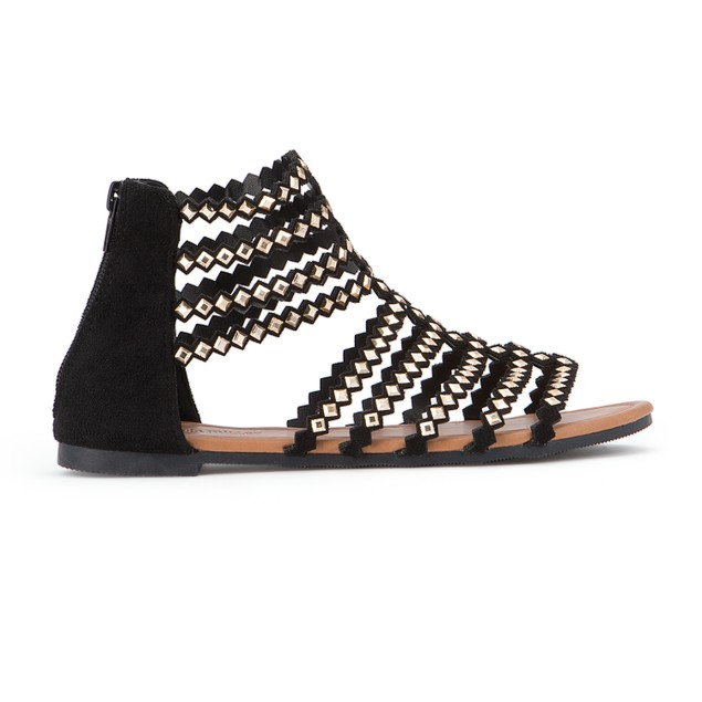 Olivia Miller 'Brooksville' Diamond Shape Studded Multi Strap Sandals