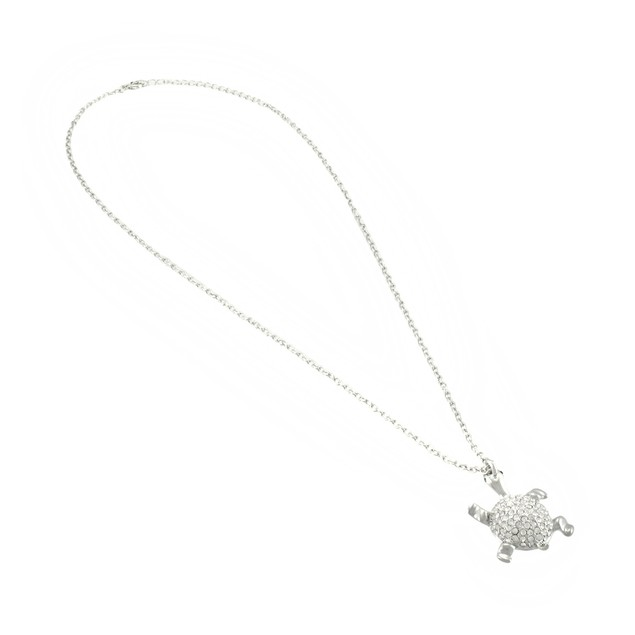 Rhinestone Encrusted Turtle Necklace 24 In. Womens Pendant Necklaces