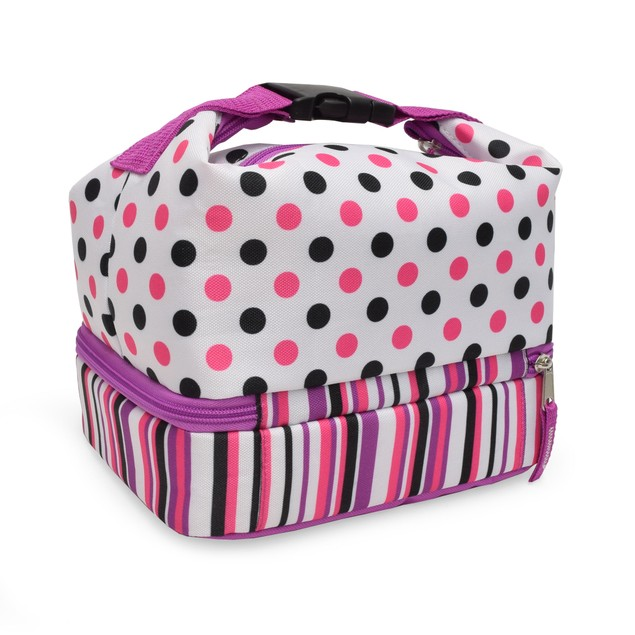 Polar Pack Two Compartment Lunch Bag w/ Buckle Handle - Attaches Anywhere