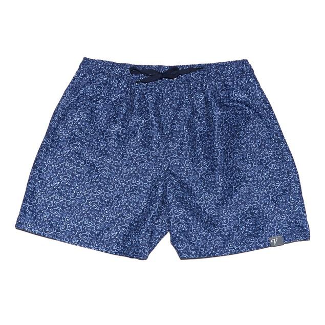 Navy Paisley Board Shorts