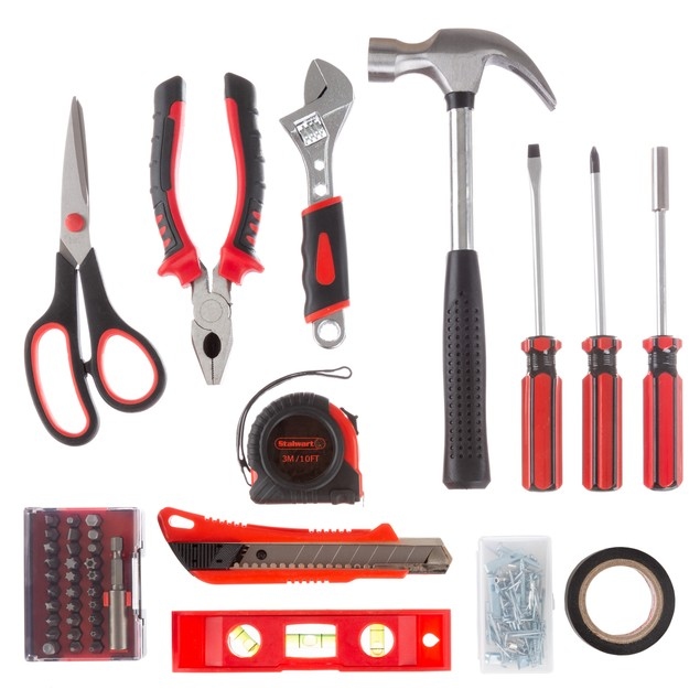 Stalwart 123 pc Tool Kit- Basic Repair Set for Apartments, Dorm, Homeowners
