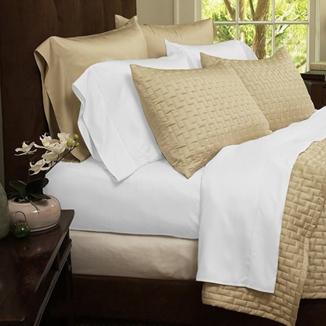 6 Piece: Soft 1800 Series Bamboo Fiber Bed Sheets