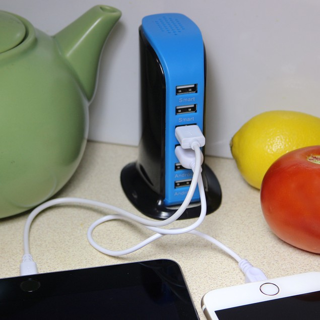 40 Watt 6 Port USB Power Charging Station