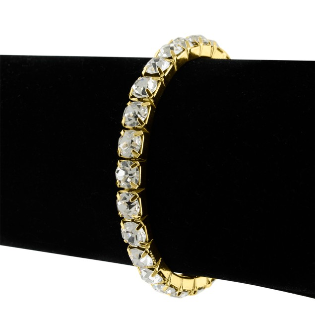 Gold Tone & Clear Crystal Bracelet