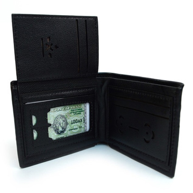 Black Bi-Fold Wallet & 2 Touch Screen Stylus Pens Set