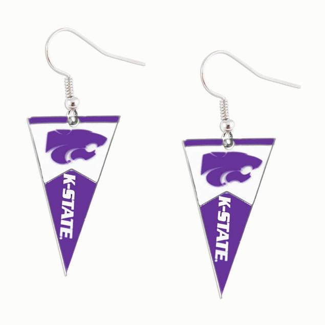 NCAA Sports Team Logo Pennant Dangle Earring
