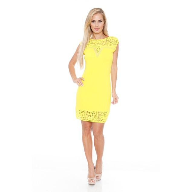 White Mark Women's Charlotte Lace Dress