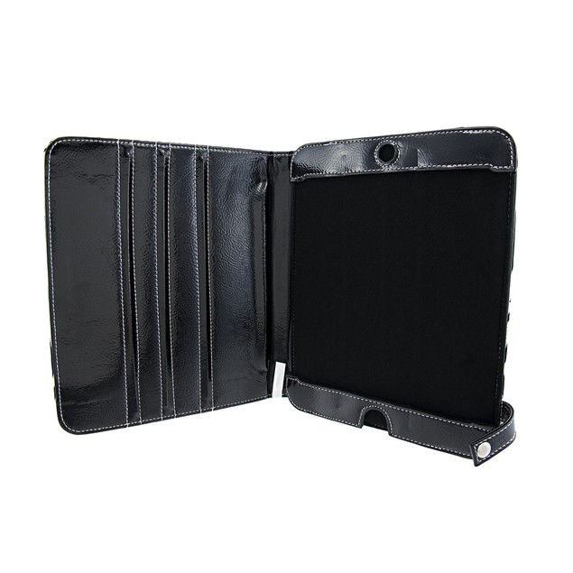 Black / Metallic White Zebra Ipad Cover/Stand Touch Screen Tablet Computer
