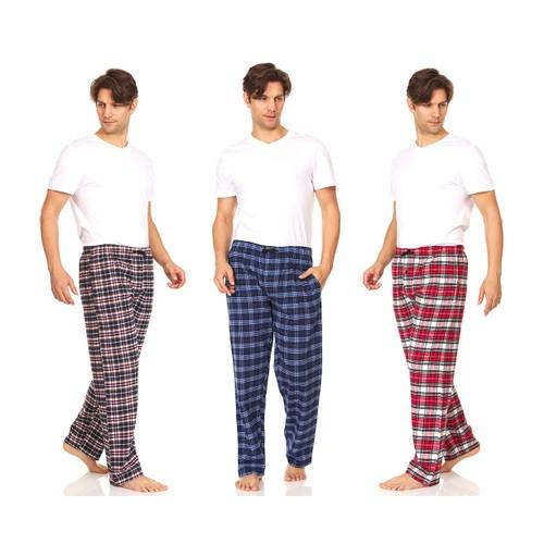 3-Pack DARESAY Men's Soft Jersey Knit Lounge Sleep Pants with Pockets