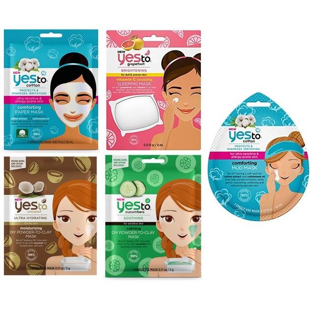 Yes To 5-Piece Face Mask Bundle Set