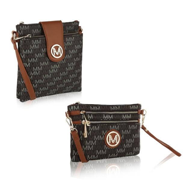 MKF Collection Sira M Signature Crossbody Bag W/ Wristlet by Mia K.