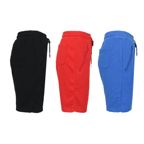 3-Pack Men's French Terry Jogger Sweat Shorts (Multiple Designs)