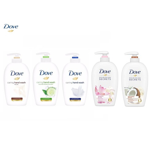 5-Pack Dove Caring Hand Wash 250ML