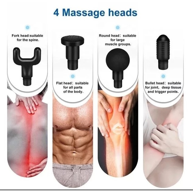 VivaSpa Handheld Deep Tissue Percussion Massager w/ 4 Attachments
