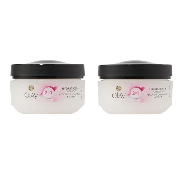 2-Pack Olay Complete 2 In 1 Hydration + Overnight Recovery Night Cream Mask