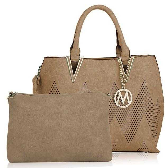 MKF Collection Mercy 2 in 1 Tote and Crossbody Handbag by Mia K.