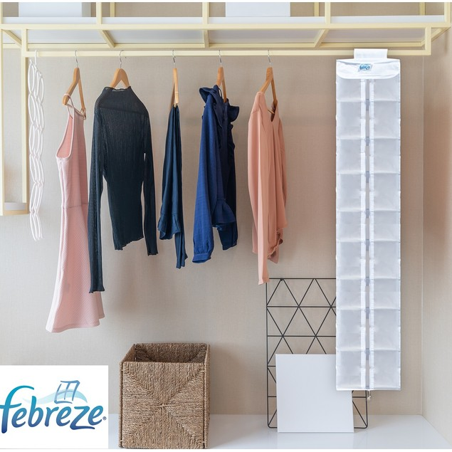 Febreze Closet Renewables Premium 12 Inch Shoe Organizer Bag Refresher