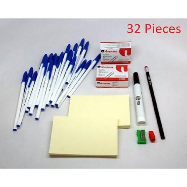 32-Piece Office Supply Essentials Kit