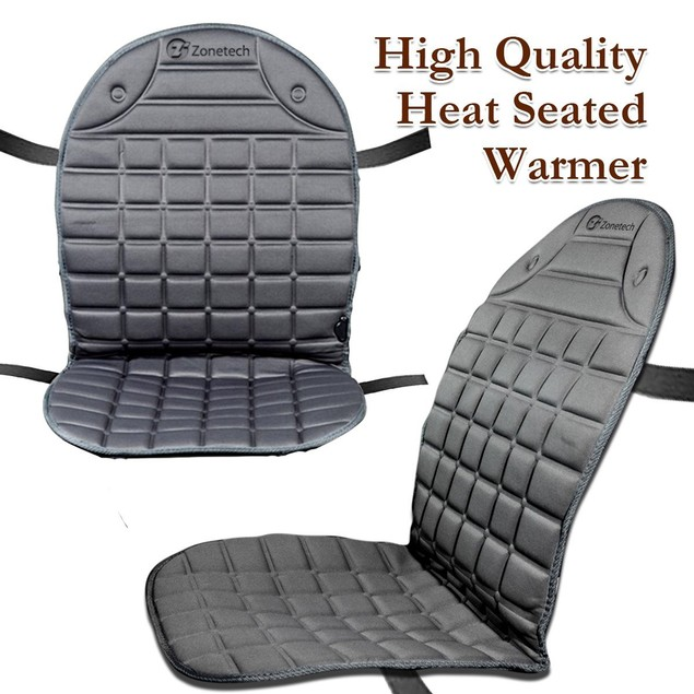 Zone Tech 2-Pack 12V Heated Seat Cover Cushion Warmer