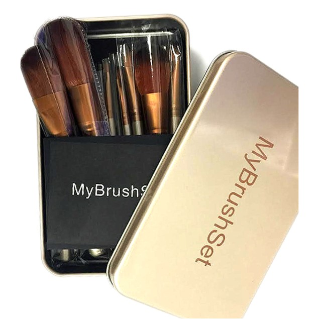 12 Piece Bare Bronze Brush Set