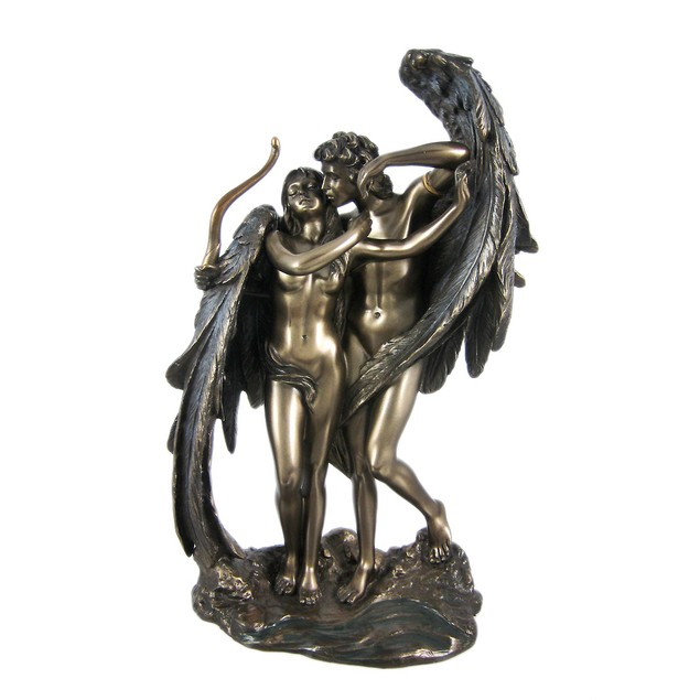Cupid And Psyche Greek Bronzed Statue Mythology Statues