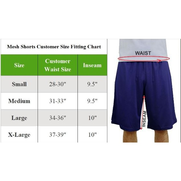 5-Pack Men's Assorted Active Moisture Wicking Shorts (Sizes, S-XL)