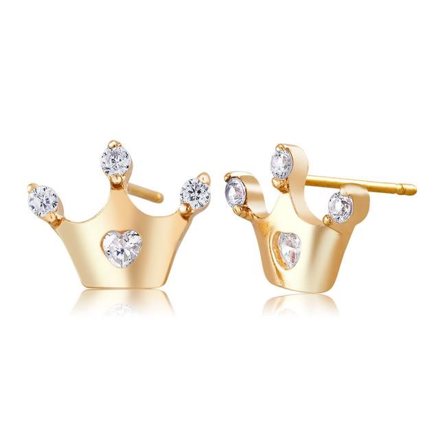 Crystal Crown Stud Earrings