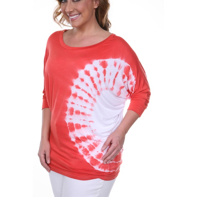 Plus Size Dolman Tie Dye Top