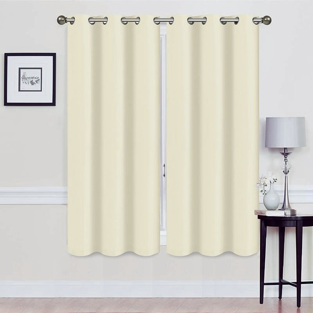 """Extra Wide Holly 108"""" x 63"""" Blackout Energy-Saving Curtains"""
