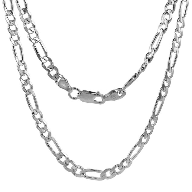 Sterling Silver Figaro Chain Link