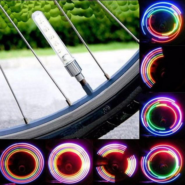 2 or 4-Piece LED Wheel Bike Light
