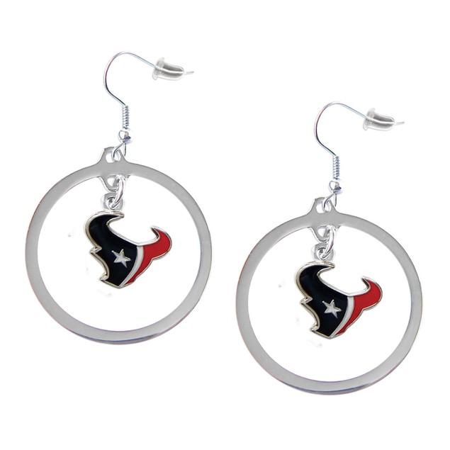 NFL Sports Team Logo Hoop Earrings Dangle