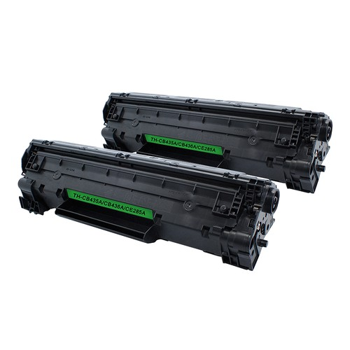 2-Pack HP CB435a/CB436a/CE285 Compatible Universal Toner