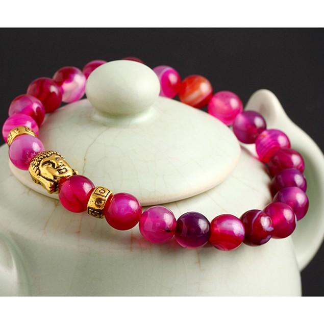Gemstone Buddha Stretchable Bracelet
