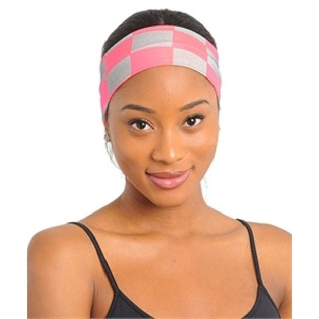 Fashion Checker Print Head Wrap Multiple Colors New In The Bag