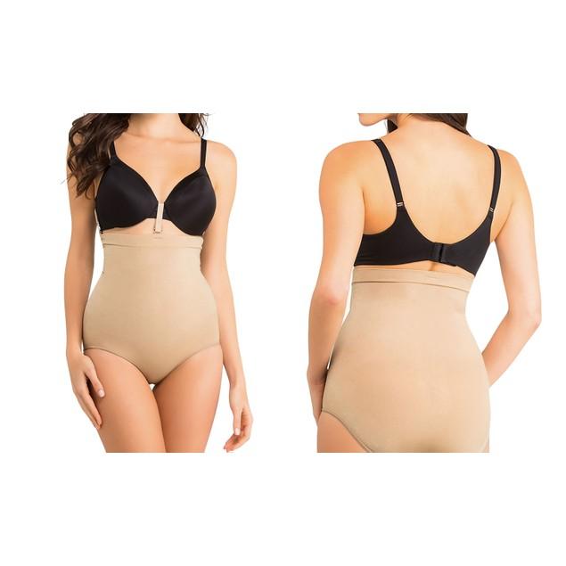 Womens High-Waisted Shaping Bikini-Brief or Thong Bottoms
