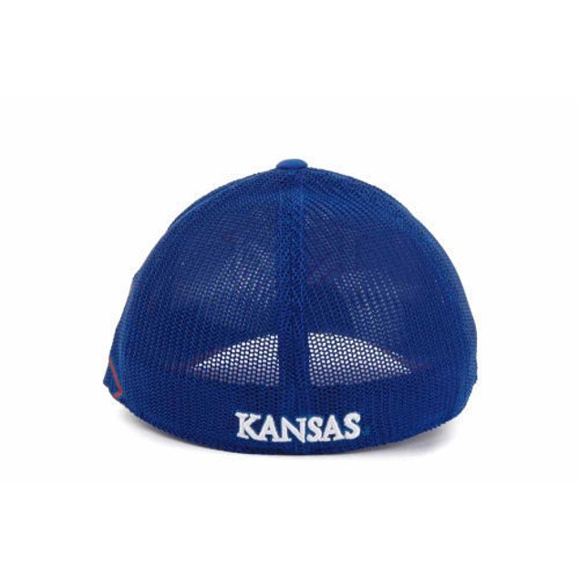 "Kansas Jayhawks NCAA Adidas ""Tre Foil"" Stretch Fitted Hat"