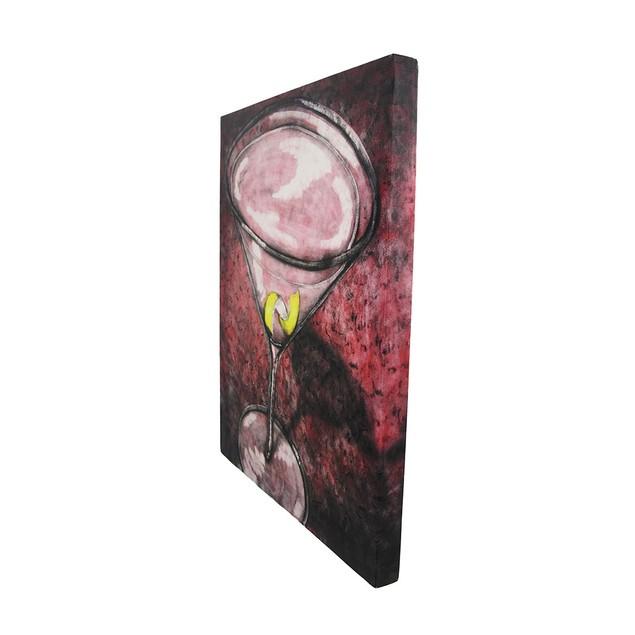 Pink Cosmopolitan Lemon Twist Cocktail Canvas Wall Paintings