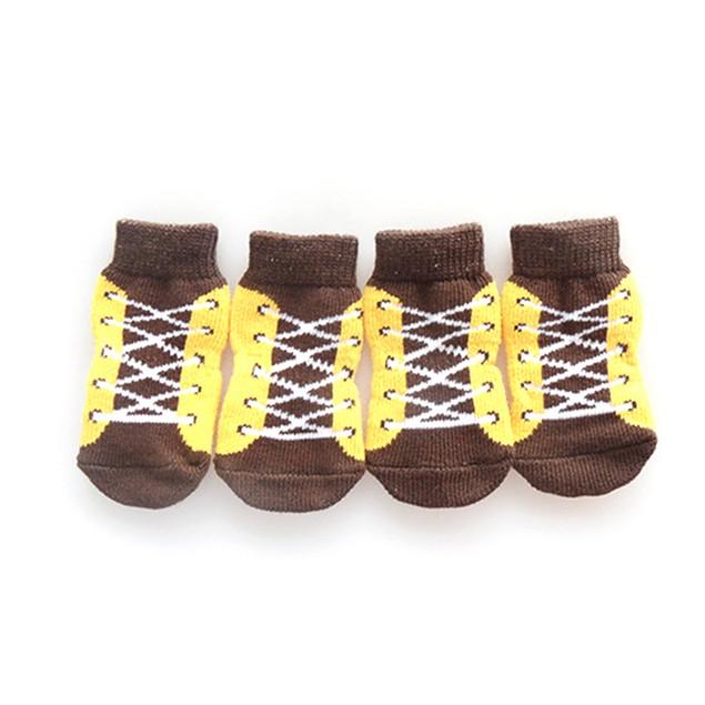 Set of 4: Anti-Slip Pet Socks by iPets