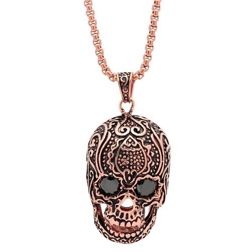 Skull Pendant with Design